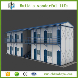 Export cheap economic prefab duplex house for construction site workers