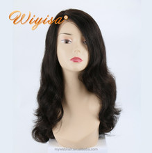Aliexpress cheap 100 percent 16 inch brazilian virgin human hair silk top full lace front wigs with baby hair