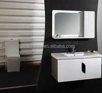 (SW-8993) white solid wood Bathroom Vanity with side cabinet