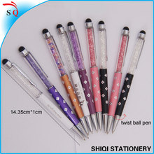 Very beautiful crystal ball pen with stylus