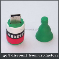 hot selling 8GB bottle shape pvc usb flash driver