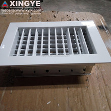 aluminum double deflection supply air conditioning grille with obd with damper