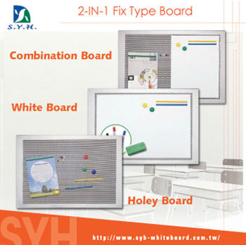 2-IN-1 Fix Type Combination Magnetic Writing Board