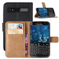 For Blackberry Classic Q20 Premium Wallet Flip Pu Leather Case Cover Pouch