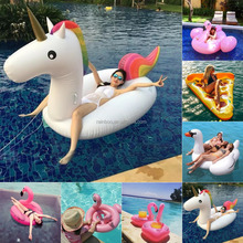 Hot selling new style unicorn pool float rainbow printed giant inflatable unicorn