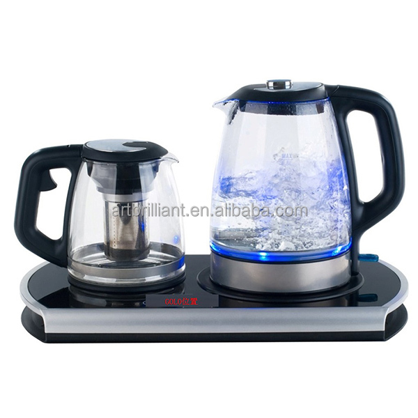 electric induction kettle with tray set