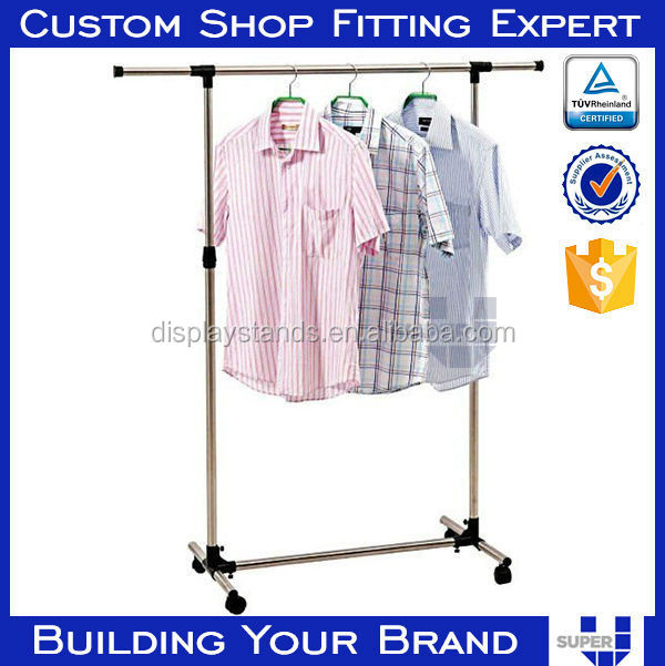 shirt hanging display rack stand display exhibition booth shenzhen