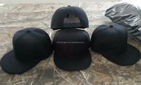 Wholesale OEM Custom Blank Snap Back Hip Hop Snapback Cap/Hat Flat Bill