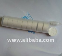Compressed tissue in tube