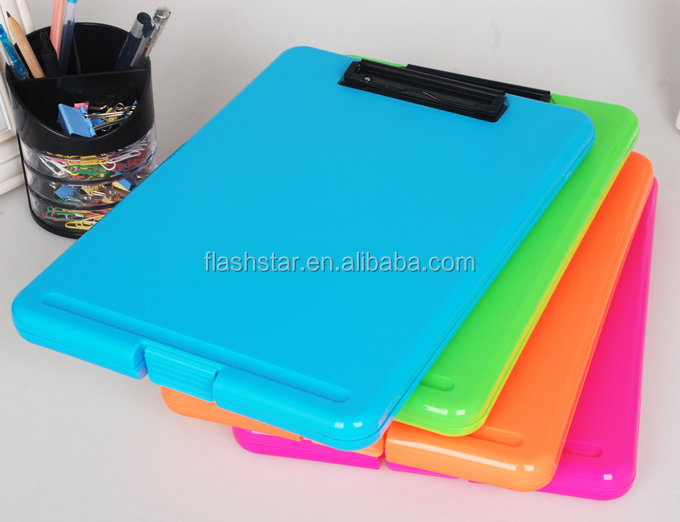 Cheap plastic clipboard with storage
