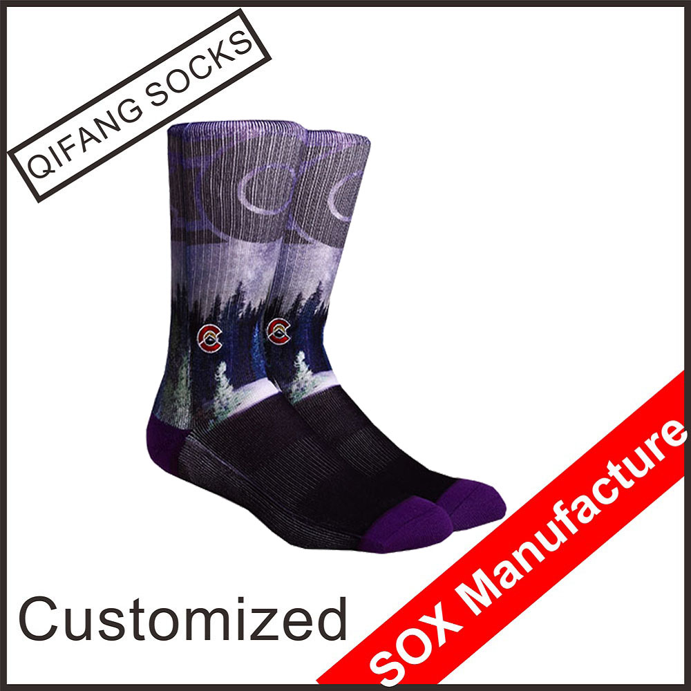 All over print crew length elite custom sublimated socks