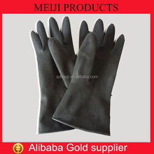 industrial black rubber glove thick rubber gloves long rubber gloves
