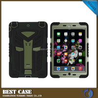 Fashion black 2 IN1 kickstand robot case for Apple iPad mini 4, Wholesale smart cover for ipad mini 3/4