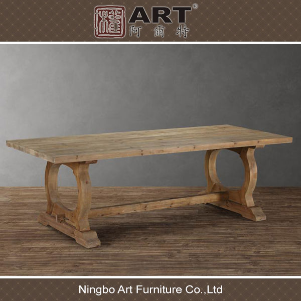 Antique Furniture European Recycled Fir Wooden Dining Room