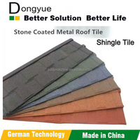 Dongyue Factory color stone coated metal roofing tile, zinc coated corrugated roofing, galvanized metal roofing tile