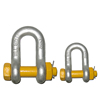 Safety pin drop forged galvanized U.S. shackle