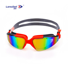 Fashionable water sports custom comfortable adults silicone anti fog swim goggles