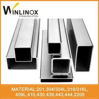 box pipe furniture tube 201 304 430 series steel grade welded hollow section