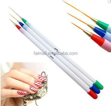 Colorful 3 Pcs/set Nail Pull Scanning Line Nail Art Line Painting Details pen