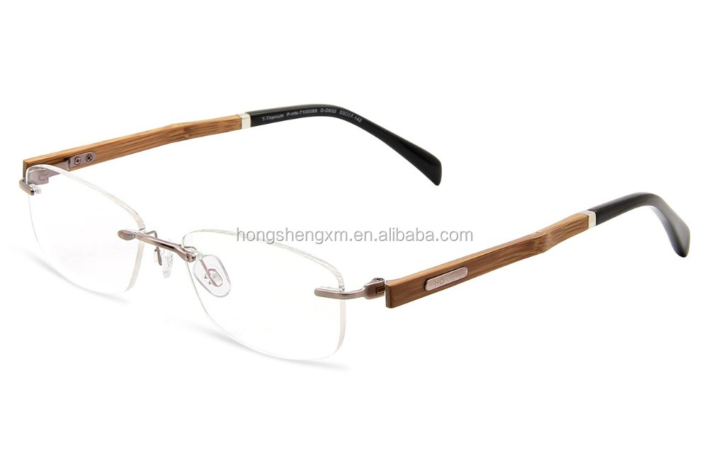 eye glasses square naturally rimless titanium eyeglasses frames for men