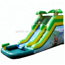 ZZPL Palm Tree Commercial Inflatables Slide Tropical Giant Inflatable Water Slide for adults