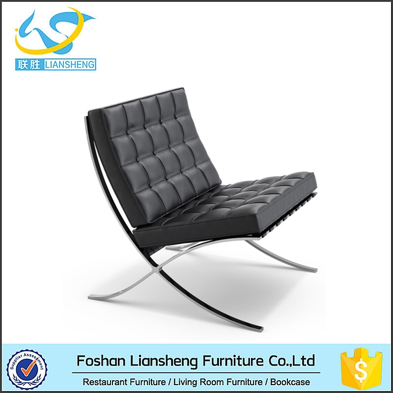 Concise Look Widely Use Barcelona Chair Sofa For Home Office Department
