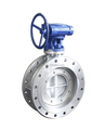 worm gear flange type Full PTFE seal ring butterfly valve for Coal power plant smoke duct