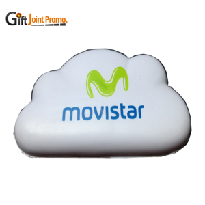 Customized Blue Cloud Stress Reliever, Cloud Shaped PU Foam Stress Ball