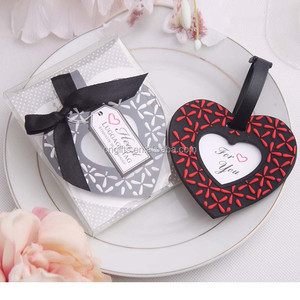 Ywbeyond Wholesale wedding door gifts of rubber heart shaped luggage tag favors for guest