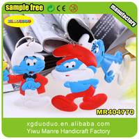 Best Factory Prices!! Cartoon Silicone Material soft pvc keyring /soft pvc keychain