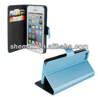 Leather Wallet Case for Apple iPhone 5C ,Moblie phone parts for iphone 5c cellphone parts