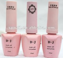 Professional high Top gel nail polish/topcoat, DJ Nails Art UV/LED Gel Polish