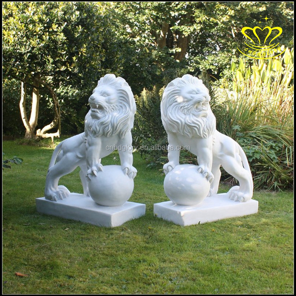 Supply stone lions White marble stone lions