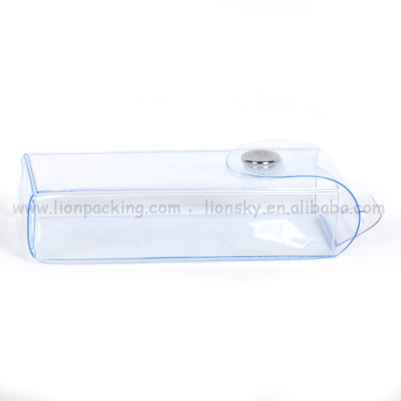 Organza pvc pencil bag with snap button