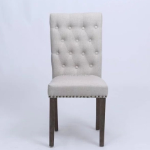 New design wholesale furniture wooden tufted button dining chair