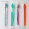 disposable transparent adult toothbrush with toothpaste powder