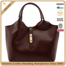 CSS1719-001 western style genuine leather women tote hand bag lady leather shoulder bag