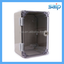 IP66 Waterproof Hinged Plastic Box with clear lid 300*200*160mm