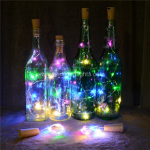 15 LED Copper Wire Bottle Lights String Starry decorative LED Lights for Bottle DIY