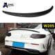 2 doors W205 carbon spoiler for mercedes AMG style spoiler
