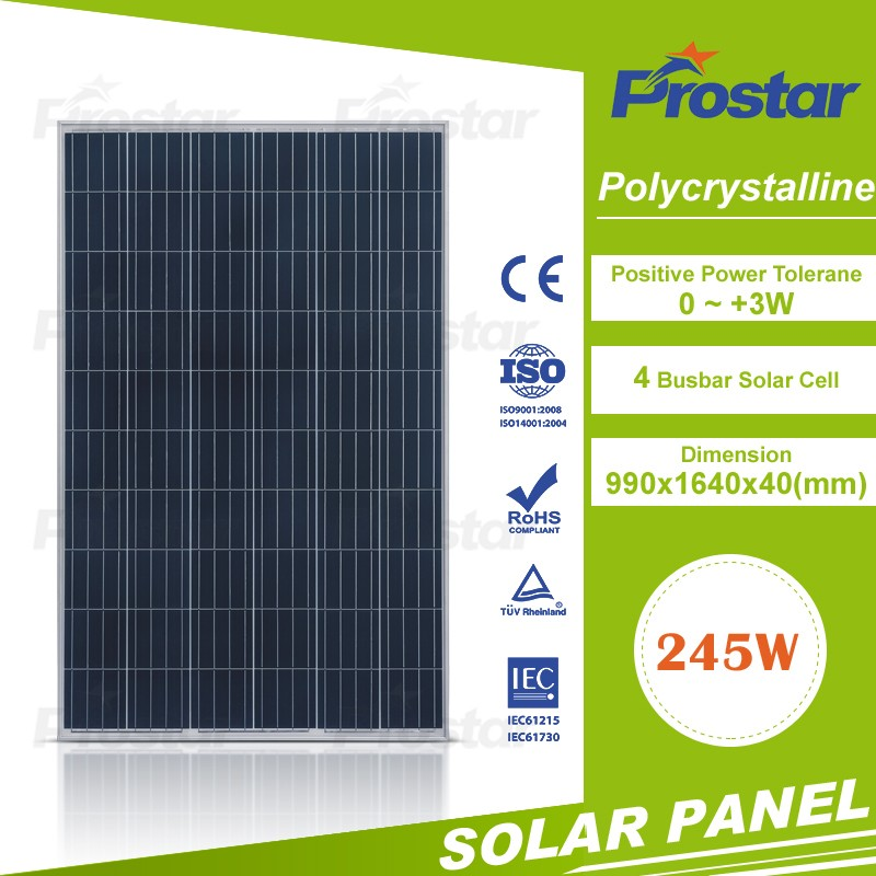 China Hot Sale! 245w poly solar modules pv panel for Morocco, Egypt, South Africa