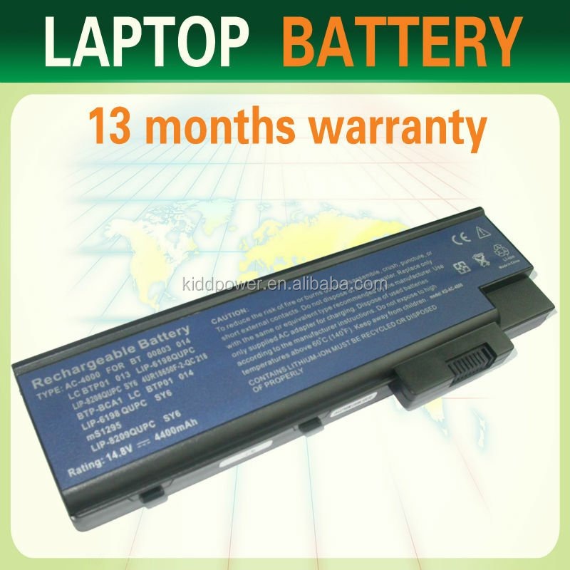 CES hot external backup battery for laptop For Acer Aspire 5600 Series 3UR18650Y-2-QC236