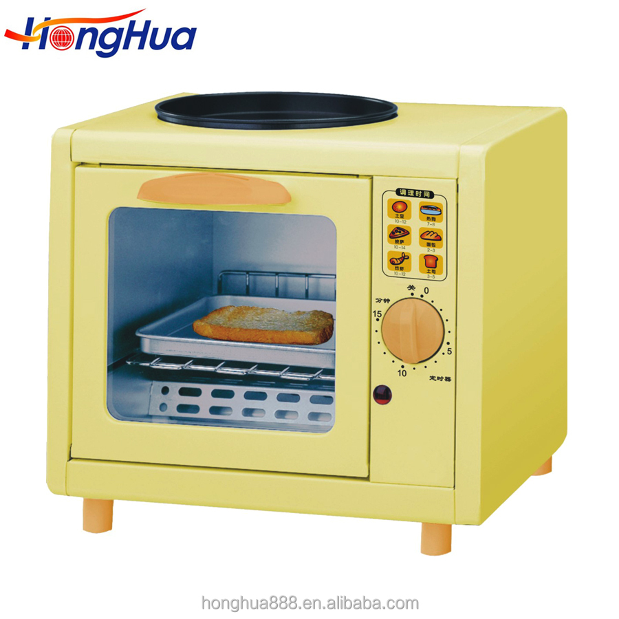500w 5L one slice bread toaster oven with hot plate