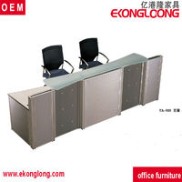 2016 grey reception office front desk counter for office