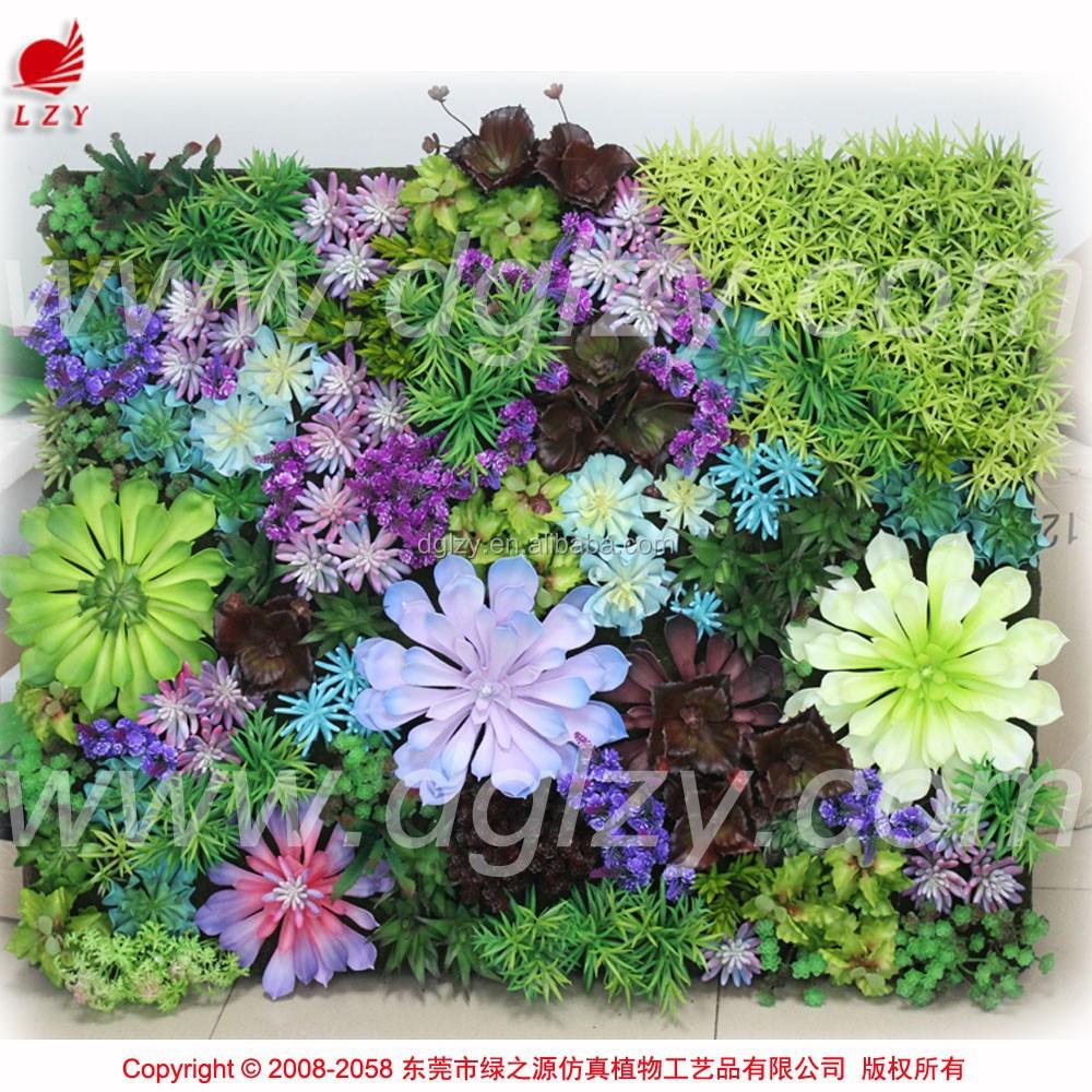 mini jardim de parede:Alta qualidade mini flores artificiais jardim vertical parede verde