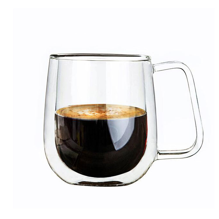 Hot Sale View larger image 250ml Hand-made Double Wall Glass Coffee Mug Tea Cups Thermal Espresso borosilicate glasses,