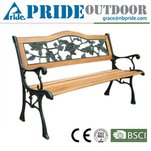 Casual Park Outdoor Wood Slats For Cast Iron Garden Bench