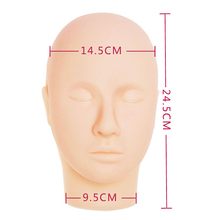 Beauty Makeup Training Mannequin Flat Head Practice Eyelash Eye Lashes Extensions Mannequin Head