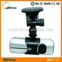 2.7 Inch car dvr vehicle two camera and gps