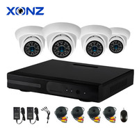 720P Home Security Dome Camera System 4CH CCTV DVR Kit H.264 HD AHD Camera Set